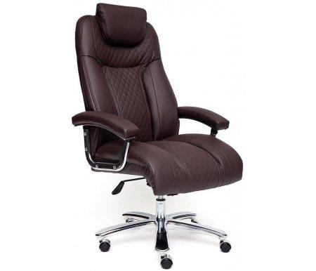 Компьютерное кресло Тетчер Trust искусственная кожа коричневая / коричневый стеганный / коричневый 36-36/36-36/6/36-36/06 фото