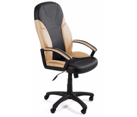 Компьютерное кресло «Твистер» (Twister) черное / бежевоеКомпьютерные кресла<br>-Кресло «Твистер» идеально подойдет людям, которые проводят много времени за компьютером и чувствуют напряжение в спине<br> <br>-Система повышенной эргономичности фиксирует положение спины в правильном положении, что позволяет позвоночнику испытывать наименьшее напряжение даже при длительных нагрузках<br> <br><br> <br>- Материал крестовины: Пластик<br>  <br>  - Материал обивки: Экокожа<br> <br>  - Материал подлокотников: Пластик с накладками из экокожи<br> <br>  - Механизм качания: с фиксацией в крайних положениях<br> <br>  - Подголовник: Без подголовника<br> <br>  Максимальная высота стула - 132 см.<br>