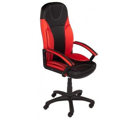 Компьютерное кресло «Твистер» (Twister) черное / красноеКомпьютерные кресла<br>-Кресло «Твистер» идеально подойдет людям, которые проводят много времени за компьютером и чувствуют напряжение в спине<br> <br>-Система повышенной эргономичности фиксирует положение спины в правильном положении, что позволяет позвоночнику испытывать наименьшее напряжение даже при длительных нагрузках<br> <br><br> <br>- Материал крестовины: Пластик<br>  <br>  - Материал обивки: Экокожа<br> <br>  - Материал подлокотников: Пластик с накладками из экокожи<br> <br>  - Механизм качания: с фиксацией в крайних положениях<br> <br>  - Подголовник: Без подголовника<br> <br>  Максимальная высота стула - 132 см.<br>