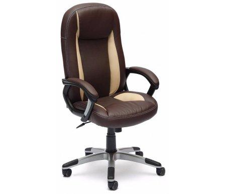 Купить Кресло Тетчер, BRINDISI коричневый / бежевый / коричневый перфорированный, Россия