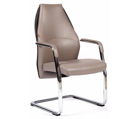 Кресло Chairman Basic V сероеКомпьютерные кресла<br>Материал подлокотников: металл с кожаными накладками.<br><br>Полозья хромированный: металл.<br>