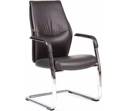 Кресло Chairman Vista V темно-сероеКомпьютерные кресла<br>Материал подлокотников: металл с накладками из кожи.<br>Полозья: хромированный металл.<br><br>Материал обивки: экокожа премиум.<br><br>Механизм качания: нет.<br>
