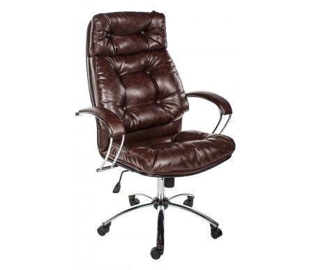 Кресло Kiron экокожа / хром коричневоеКомпьютерные кресла<br><br>