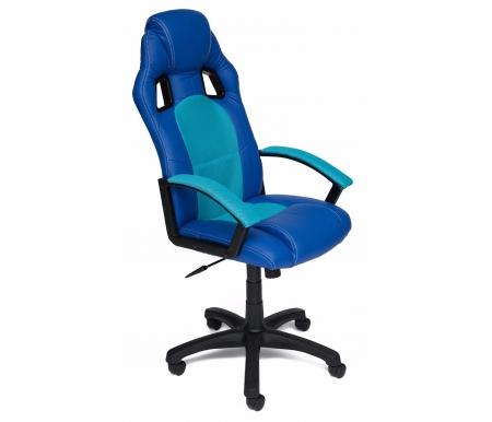 Купить Кресло Тетчер, компьютерное Driver синий / бирюза, синий / бирюзовый