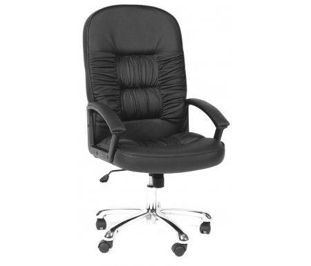 Компьютерное кресло Chairman 418 натуральная кожаКомпьютерные кресла<br>Материал подлокотников: пластик с накладками из экокожи.<br><br>Материал крестовины: хромированный металл.<br><br>Материал обивки: натуральная кожа.<br><br>Механизм качания: есть.<br>