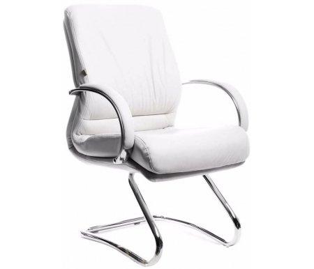 Компьютерное кресло Chairman 445 белое из натуральной кожиКомпьютерные кресла<br><br>
