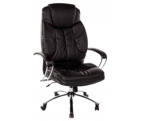 Кресло Swift экокожа / хромКомпьютерные кресла<br>Материал обивки: перфорированная экокожа.<br>Механизм качания: есть.<br>  <br><br>  <br>    <br>  <br>    Каркас кресла - цельный стальной, пятилучье - хромированный металл. <br>       <br>        <br>       <br>     <br>      Обивка выполнена из инновационного экологически чистого материала, производимого из натуральной кожи, армированного нейлоновой нитью, имеющего волокнистую натуральную основу и естественную полиуретановую поверхность, ввиду чего, данный материал не уступает натуральной коже по эластичности, прочности и износостойкости. Благодаря наличию перфорации обеспечиваются уникальные дышащие свойства, не уступающие ткани и значительно превосходящие дышащие свойства натуральной кожи.<br>     <br>       <br>        <br>       <br>     <br>      Подлокотники из стали, хромированные, с мягкими накладками. Система наклона спинки (тип механизма качания) - TOP-GUN на шариковых подшипниках, с фиксацией в рабочем положении. Пластиковые ролики (стандарт BIFMA 5.1, США).<br>     <br>       <br>        <br>       <br>     <br>      Ширина между ногами - 65 см.<br>