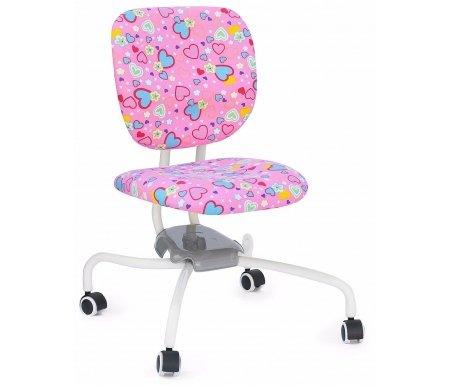 Кресло-трансформер детское ZR2013 pink heartКомпьютерные кресла<br>Материал сиденья: ткань. <br> Материал крестовины: металл.<br>Высота спинки: 36 см. <br>  Высота кресла: 68 - 82 см.<br>