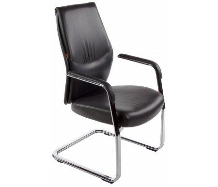 Кресло Chairman Vista V черноеКомпьютерные кресла<br>Материал подлокотников: металл с накладками из кожи.<br>Полозья: хромированный металл.<br><br>Материал обивки: экокожа премиум.<br><br>Механизм качания: нет.<br>