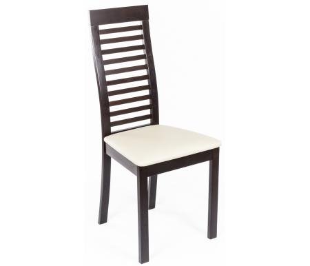 Стул LordДеревянные стулья<br>Ширина сиденья у основания спинки 32 см. <br><br> Ширина верхней части спинки 31 см. <br><br> Высота сиденья до обивки 44 см, толщина обивки 4 см. <br><br> <br><br> Стул с мягким сиденьем изготовлен из массива бука. Оцените его комфорт и красоту на Вашей кухне.<br><br>Ширина сиденья: 44,5 см<br>Глубина сиденья: 41 см<br>Высота сиденья: 48 см<br>Высота по спинке: 100 см<br>Материал каркаса: массив бука<br>Материал обивки: dark walnut (венге)<br>Материал обивки: кожзаменитель<br>Цвет обивки: PVC312 (бежевый)<br>Вес: 5,5 кг