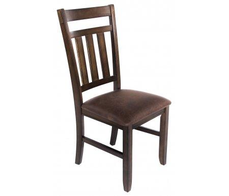 Стул GR CCRA-445AB4-SДеревянные стулья<br>Стул 445 AB4-S - это удобная модель с мягким сиденьем. <br>Каркас выполнен из массива гевеи, сиденье обито кожзаменителем.<br><br>Ширина сиденья: нет данных<br>Глубина сиденья: нет данных<br>Высота по спинке: нет данных<br>Материал каркаса: массив гевеи<br>Цвет каркаса: дуб черный<br>Материал обивки: кожзаменитель<br>Цвет обивки: темно-коричневый<br>Вес: 8,65 кг