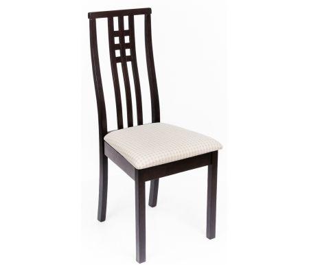 Стул Betty капучиноДеревянные стулья<br>Каркасстула BETTYизготовлен из массива гевеи, тонированного в цвет капучино. Обивка выполнена из вельвета бежевого цвета.<br>