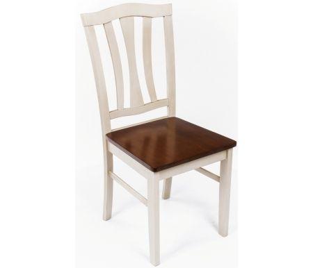 Стул CT 8162 античный белый / темный дубДеревянные стулья<br><br>