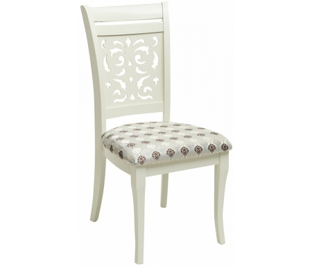 Стул Мебель Малайзии деревянный TS Siena ivory white / fabric W558-3 SA-SC