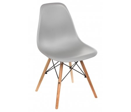 Стул Eames PC-015 серыйДеревянные стулья<br>Расстояние между передними ножками 42 см. <br>Расстояние между ножками сбоку 42 см.<br>