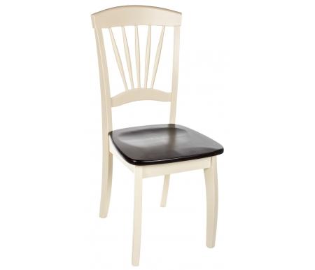 Купить Стул Мебель Малайзии, JIN D-2092 WOODEN SEAT CREAM+CAPPUCINO, капучино (cappucino) / крем (cream)