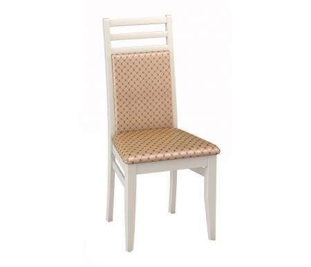 Деревянные стулья М12 эмаль слоновая кость / ткань 39  Стул ДИК Мебель