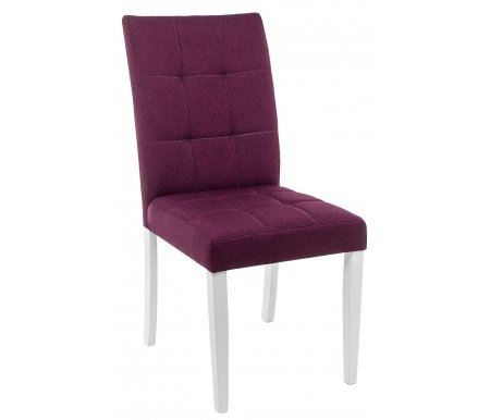 Купить Стул Woodville, Madina white / fabric purple, white (265) / fabric purple (WG016)