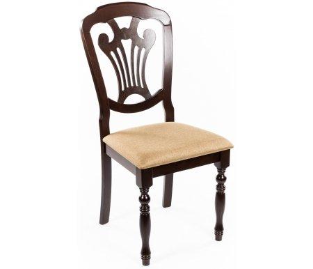 Стул MikiДеревянные стулья<br><br><br>Ширина: 44,5 см<br>Ширина сиденья: 46 см<br>Глубина: 43 см<br>Глубина сиденья: 41 см<br>Высота: 99 см<br>Высота сиденья: 48 см<br>Материал каркаса: массив гевеи<br>Цвет каркаса: cappuccino<br>Материал обивки: ткань