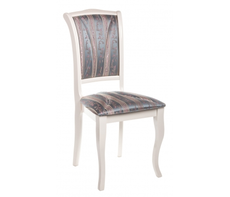 Деревянные стулья Opera butter white / бирюзовая ткань  Стул Тетчер