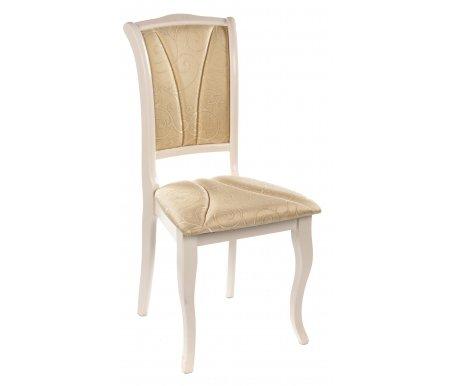 Стул OperaДеревянные стулья<br>Элегантный стул с мягкими сиденьем и спинкой выполнен в классическом итальянском стиле. Каркас сделан из массива гевеи. Обивка нежного оттенка с простроченными линиями на спинке и сиденье. <br><br> <br>Отлично сочетается состолом Siena.<br><br>Ширина: 45 см<br>Глубина: 53 см<br>Высота: 97 см<br>Материал каркаса: массив гевеи<br>Цвет: белый (слоновая кость)