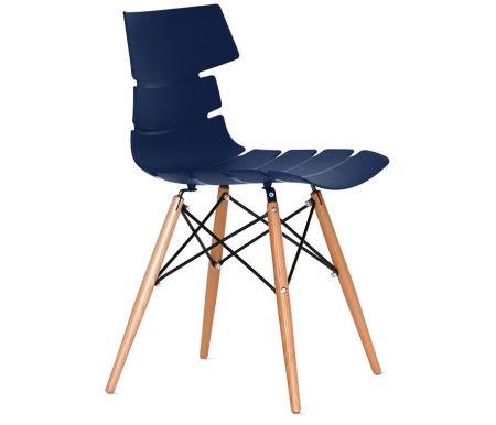 Стул PW-030 синийДеревянные стулья<br>Удобный и современный стул подходит для использования в гостиных и кухнях, на дачах и в кафе. Обратите внимание на его необычный и привлекательный дизайн.<br>