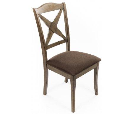 Стул LT C14355Деревянные стулья<br>Т.к. данная мебель изготовлена с использованием имитации древоточцев, на поверхности могут присутствовать углубления.<br><br>Ширина: 46 см<br>Глубина: 57 см<br>Высота: 98 см<br>Материал каркаса: массив гевеи<br>Цвет каркаса: серый<br>Материал обивки: ткань<br>Цвет обивки: светло-коричневый
