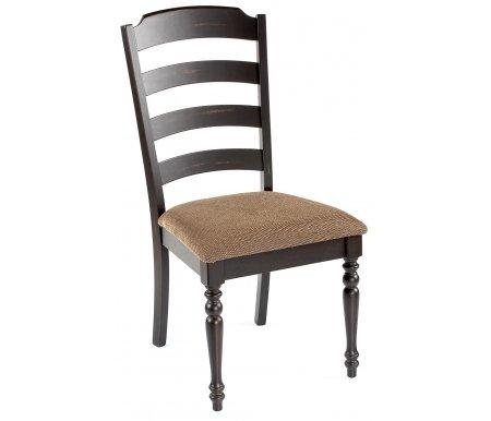 Стул LT C14356Деревянные стулья<br>Т.к. данная мебель изготовлена с использованием технологии искусственного старения (патинирование) с имитацией древоточцев, на поверхности могут присутствовать углубления.<br><br>Ширина: 50 см<br>Глубина: 59 см<br>Высота: 100 см<br>Материал каркаса: массив гевеи<br>Цвет каркаса: черный<br>Материал обивки: ткань<br>Цвет обивки: бежево-коричневый