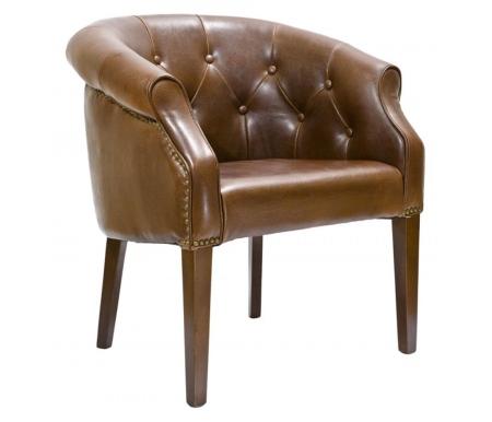 Кресло PJC347-PJ044 кожаное коричневоеКресла<br>Максимально допустимая нагрузка для кресла - 130 кг.<br>