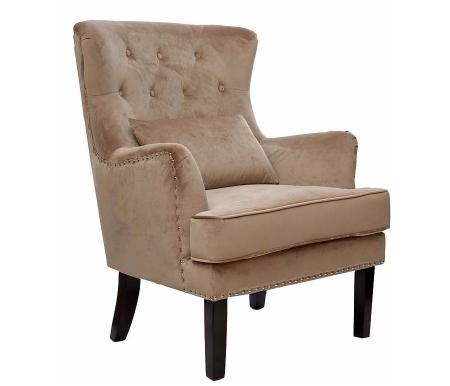 Кресло с подушкой 24YJ-7004-06413/1 велюр бежевыйКресла<br>В комплект входит подушка.<br>