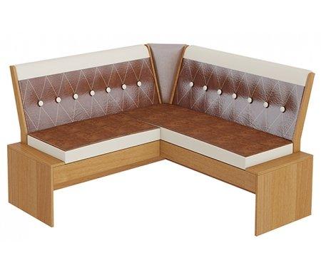 Кухонная скамья Кантри-мини Т2 исп.1 МФ-105.025 ольхаКухонные уголки<br>Ящик для хранения под сиденьем скамьи не предусмотрен.<br>