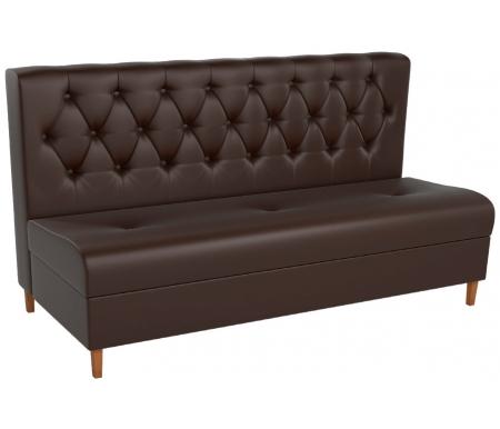 Купить Кухонный диван Mebelico, Бремен экокожа коричневый, Россия
