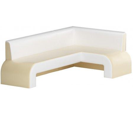 Купить Кухонный диван Mebelico, Кармен угловой экокожа бежевый-белый правый, Россия, бежевый / белый