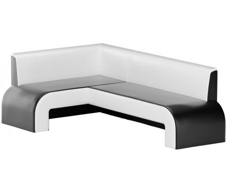 Купить Кухонный диван Mebelico, Кармен угловой экокожа черно-белый левый, Россия, черный / белый