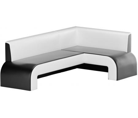 Купить Кухонный диван Mebelico, Кармен угловой экокожа черно-белый правый, Россия, черный / белый