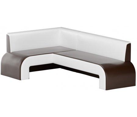 Купить Кухонный диван Mebelico, Кармен угловой экокожа коричнево-белый левый, Россия, коричневый / белый