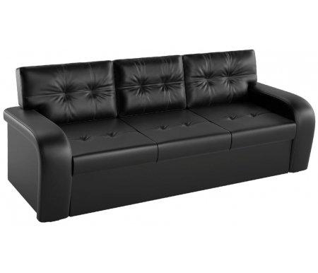 Купить Кухонный диван Mebelico, Классик экокожа черный, Россия