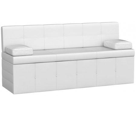 Купить Кухонный диван Mebelico, Лео экокожа белый, Россия