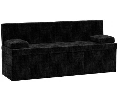 Купить Кухонный диван Mebelico, Лео микровельвет черный, Россия