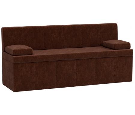 Купить Кухонный диван Mebelico, Лео микровельвет коричневый, Россия