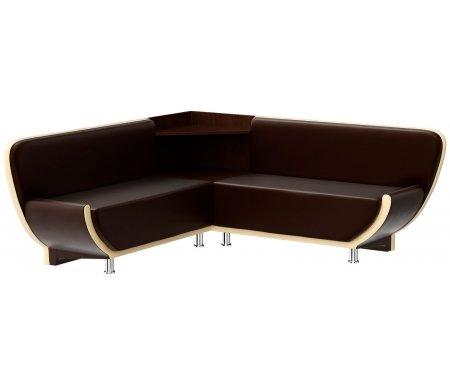 Купить Кухонный диван Mebelico, Лотос угловой экокожа коричнево-бежевый правый, Россия, коричневый / бежевый