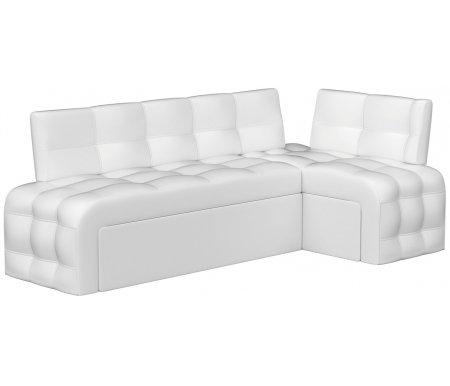 Купить Кухонный диван Mebelico, Люксор угловой экокожа белый правый, Россия