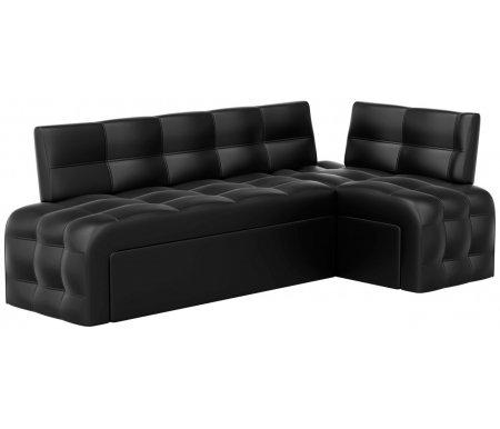 Купить Кухонный диван Mebelico, Люксор угловой экокожа черный правый, Россия