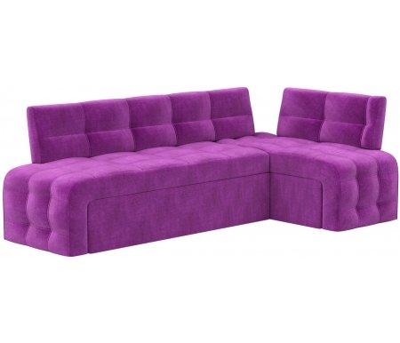 Купить Кухонный диван Mebelico, Люксор угловой микровельвет фиолетовый правый, Россия