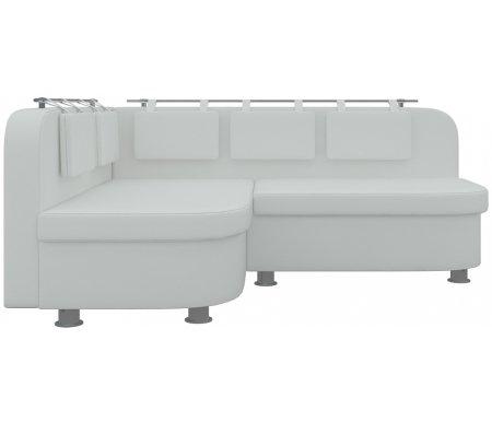 Купить Кухонный диван Mebelico, Уют-2 угловой экокожа белый левый, Россия
