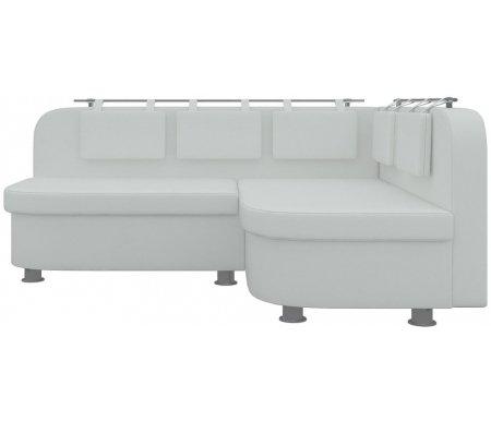Купить Кухонный диван Mebelico, Уют-2 угловой экокожа белый правый, Россия