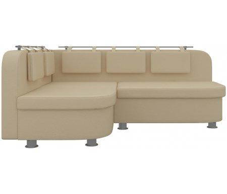 Купить Кухонный диван Mebelico, Уют-2 угловой экокожа бежевый левый, Россия