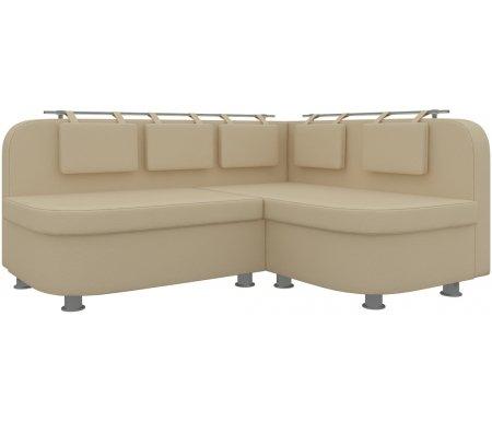Купить Кухонный диван Mebelico, Уют-2 угловой экокожа бежевый правый, Россия