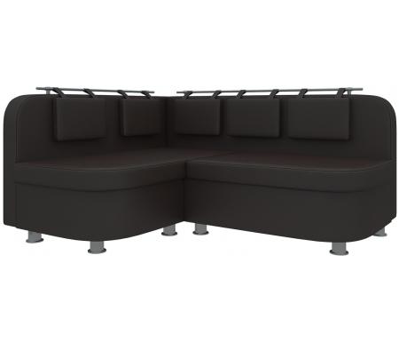 Купить Кухонный диван Mebelico, Уют-2 угловой экокожа коричневый левый, Россия