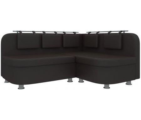 Купить Кухонный диван Mebelico, Уют-2 угловой экокожа коричневый правый, Россия